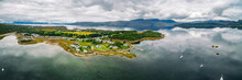 Aerial View Of Plockton Village On The Highlands Of Scotland