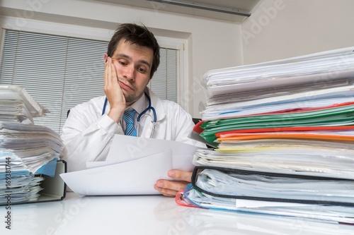 Fotografía  Bureaucracy in medicine concept