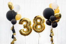 Decoration For 38 Years Birthday, Anniversary