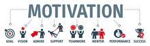 Banner Motivation - Vector Illustration