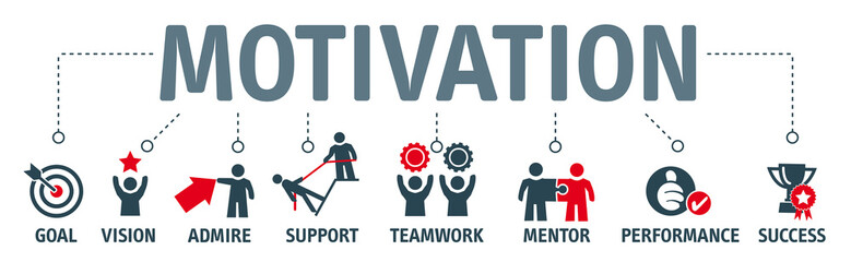 Banner Motivation - vector illustration