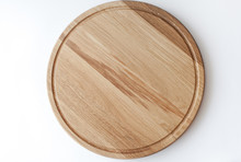 Wooden Cutting Board On White ...