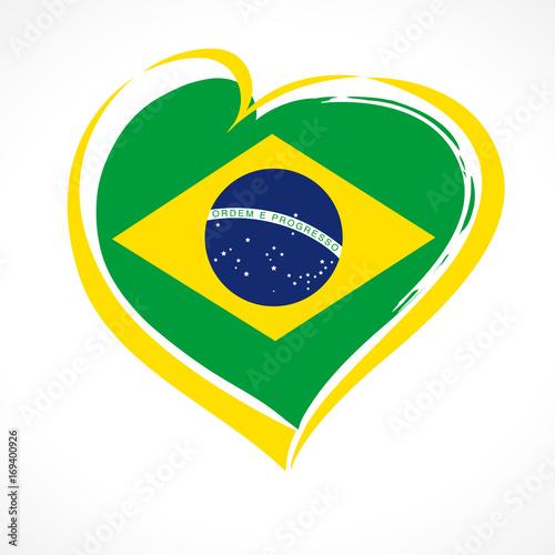 Foto  Love Brazil emblem colored