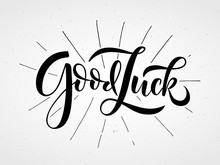 Hand Sketched Good Luck Letter...