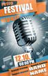 Vektor Live Musik Festival Poster