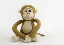 Soft Animal Monkey On A White ...