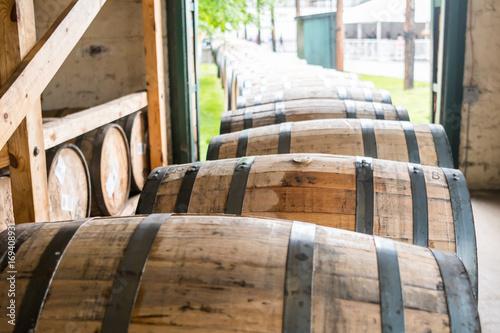Bourbon Barrels Heading for Aging