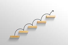 Rising Arrow On Staircase, Inc...