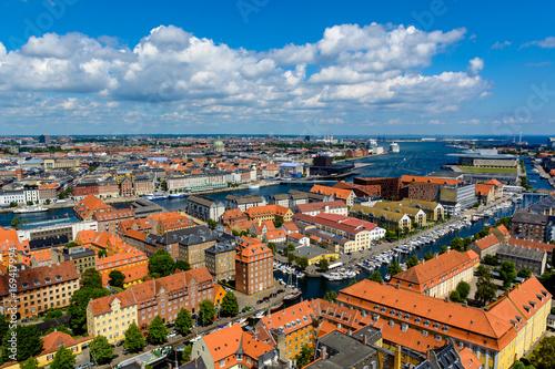 Aerial view of Copenhagen, Denmark. Wallpaper Mural