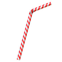 Drinking Straw Isolated On White 3d Rendering
