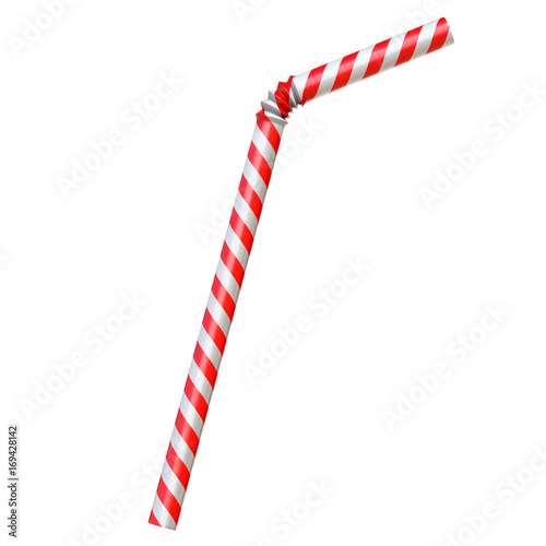 Photo Drinking straw isolated on white 3d rendering