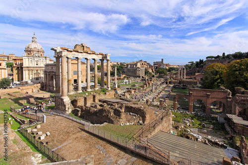 Ancient Rome Ruins Roman Forum Canvas Print