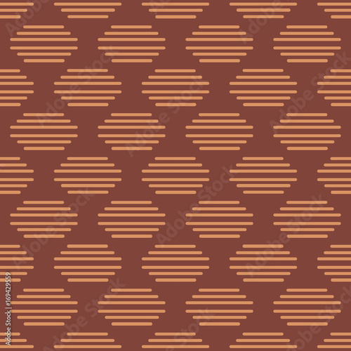 Photo Seamless asian pattern with geometric elements
