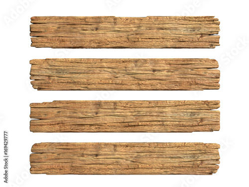 Wooden planks 3d rendering © koya979