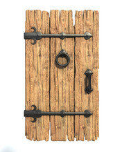 Old Medieval Wooden Door 3d Re...