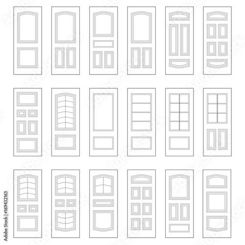 Obraz na plátně  Big set of door ideas. Big set combination.