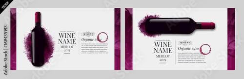 Idea design for catalog, magazine or presentation for wine bottles.
