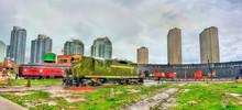 Old Diesel Locomotive In Round...