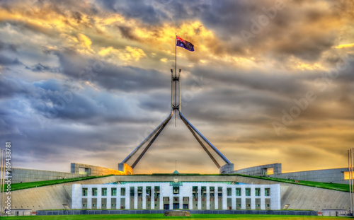 Foto auf Leinwand Ozeanien Parliament House in Canberra, Australia