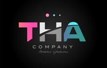 THA T H A Three Letter Logo Ic...