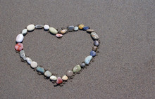 Colored Pebbles Collected In T...