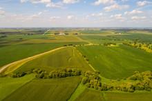 Aerial Iowa Farmland Landscape
