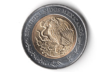 Moneda De Cinco Pesos Mexicanos Escudo, Currency Of Five Mexican Pesos