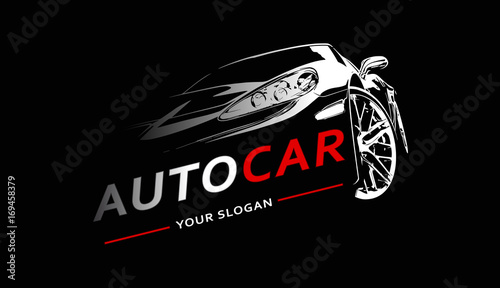 Fototapeta Car Logo Abstract Lines Vector. Vector illustration obraz