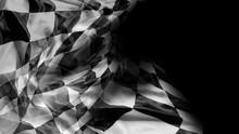 Checkered Flag On Black