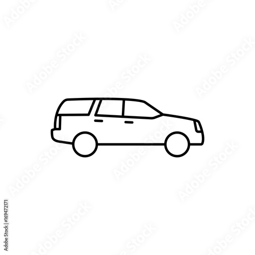 Photo  suv car icon on white background