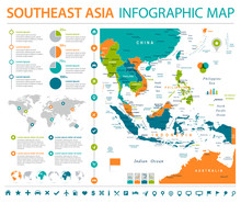 Southeast Asia Map - Info Grap...