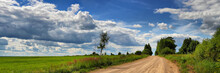 Panorama Of A Summer Landscape With The Country Road