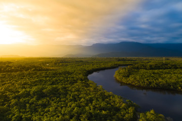 Obraz na Szkle Aerial View of a Rainforest in Brazil