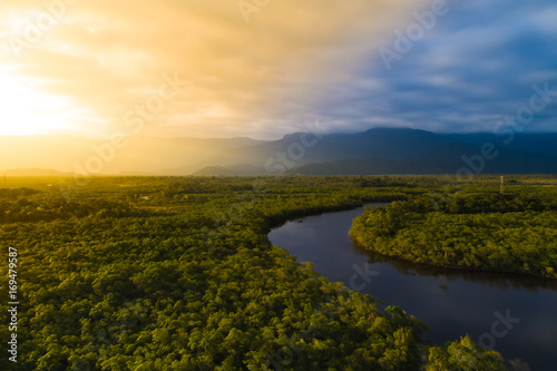 Foto auf Leinwand Brasilien Aerial View of a Rainforest in Brazil