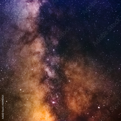 Clearly Milky Way galaxy at dark night