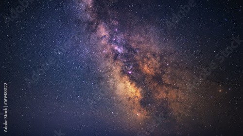 Clearly Milky Way galaxy at dark night Fototapet