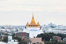 Golden Mount, Wat Sraket Rajavaravihara Temple In Bangkok, Thailand