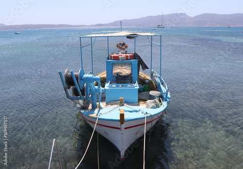 Printed kitchen splashbacks Canary Islands Greek Island Fishing Boats