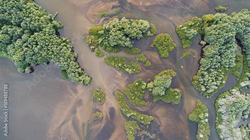 Spoed Foto op Canvas Grijs Aerial landscape