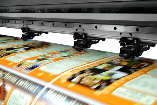 Fototapeta Large printer format inkjet working obraz