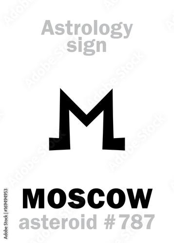 Astrology Alphabet: MOSCOW, asteroid #787  Hieroglyphics