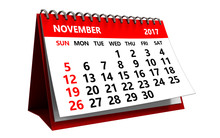3d November 2017 Calendar