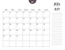 Vector Of Calendar 2018 ( July...