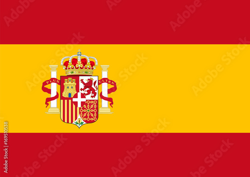 Flag of spain Fototapet