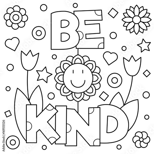 be kind coloring page vector illustration buy this stock vector and explore similar vectors at adobe stock adobe stock vector illustration