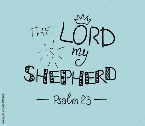 napis-na-rece-pana-jest-moim-pasterzem