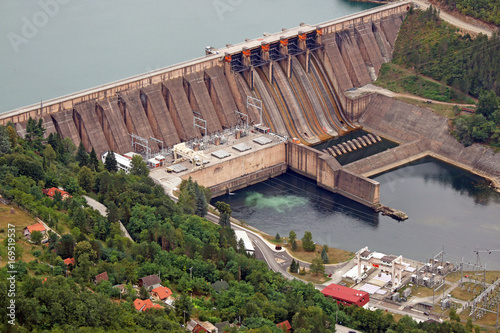 Photo sur Toile Barrage hydroelectric power plant Perucac on Drina river