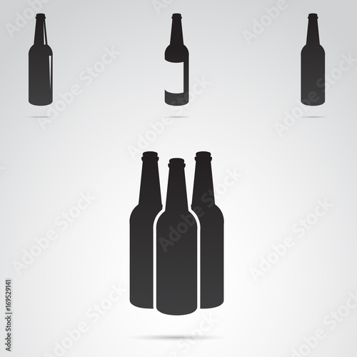 Fototapeta  Bottle icon isolated on white background. Vector art.