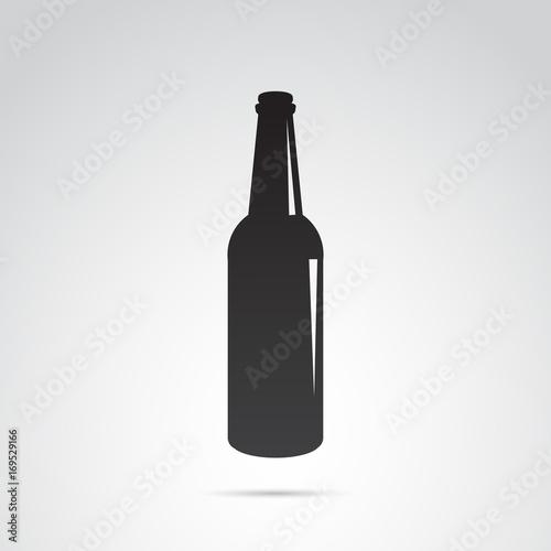 Fotografie, Obraz  Bottle icon isolated on white background. Vector art.
