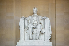 Abraham Lincoln Statue At The Lincoln Memorial In Wahington D.C., USA